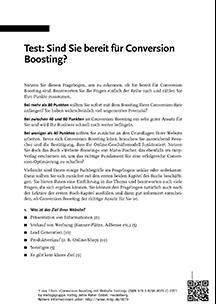 Sind Sie bereit für Conversion Boosting