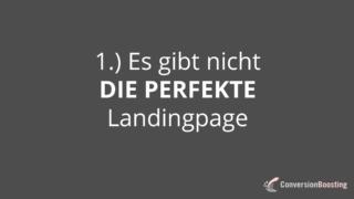 Es gibt nicht DIE perfekte Landingpage