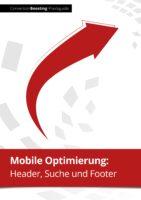 Header, Suche und Footer für mobile Online-Shops