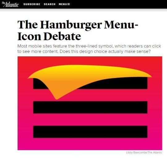 Mobile Navigation: Hamburger schmecken nicht jedem - Drei Balken = das Nonplusultra?