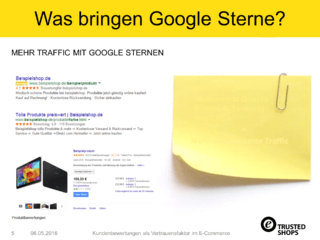 Was bringen Google Sterne?
