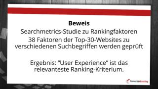 User-Experience ist das aktuell relevanteste Rankingkriterium