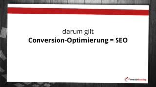 Conversion-Optimierung = SEO