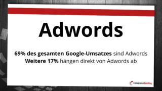 Google ist abhängig von AdWords - und damit von der Relevanz der Suchergebnisse