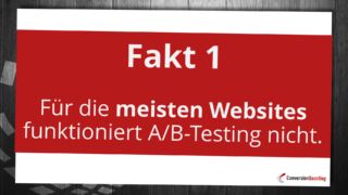 Viele Webseiten haben zu weniger Traffic für A/B-Tests