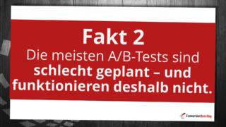 Viele A/B-Tests funktionieren nicht