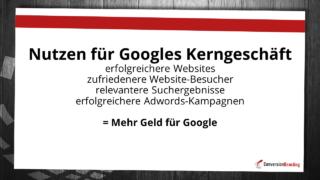 Worin liegt der Nutzen für Google
