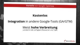 Vorteile von Google Optimize
