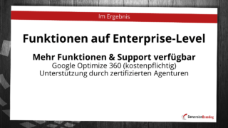 Funktionen auf Enterprise-Level