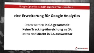 Google Optimize ist eine Erweiterung für Google Analytics