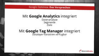 Google Optimize: Das Versprechen