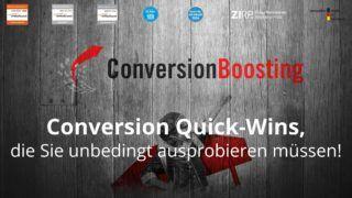 Conversion Quick-Wins, die Sie unbedingt ausprobieren müssen!