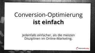Conversion-Optimierung ist einfach