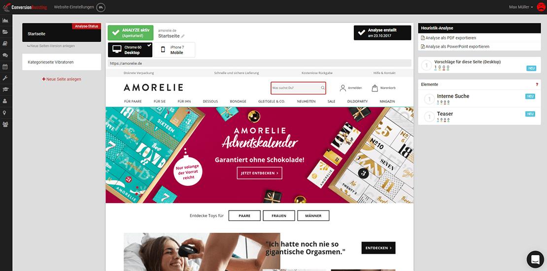 Amorelie: Ein paar Höhepunkte fehlen noch! - So könnte der Erotik-Online-Riese noch erfolgreicher werden!